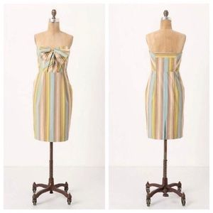 Anthropologie Moulinette Soeurs striped bow dress